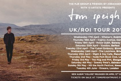 Tom Speight announces 2019 Headline Tour