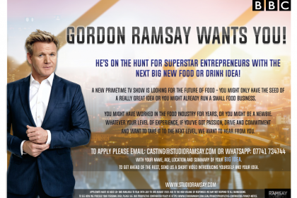 New Gordon Ramsay BBC project for food and drinks stars