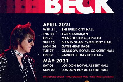 Jeff Beck UK Tour Dates Rescheduled for 2021